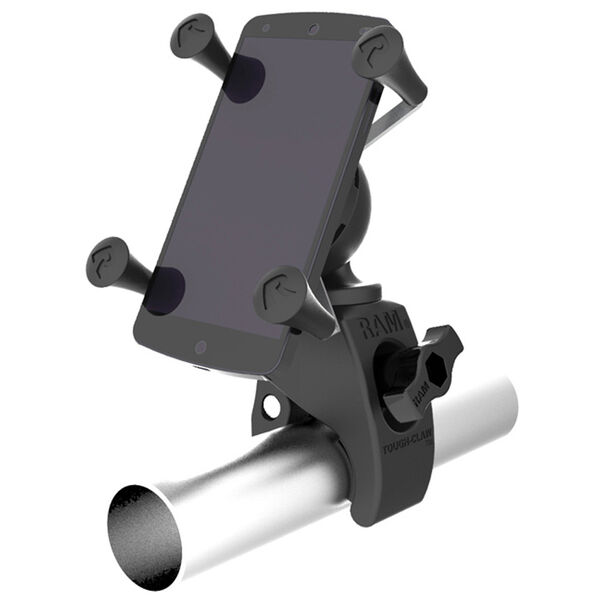 RAM Mount Tough-Claw Mount w/Universal X-Grip Phone Holder