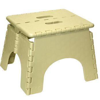 """E-Z Foldz Folding Step Stool, 9"""" - Beige"""