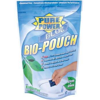 Pure Power Blue Waste Digester and Odor Eliminator - 12 Pack Toss-Ins