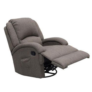 Thomas Payne Collection Heritage Series Swivel Glider Recliner, Dunes Gray