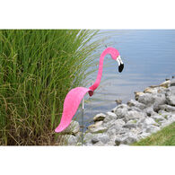 Hot Pink Flamingo Lawn Ornament, Set of Two