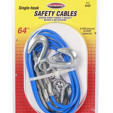 6000 lb. Safety Cables, 64""