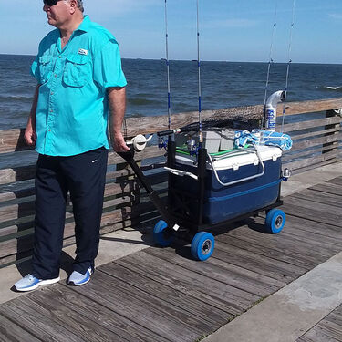 Mighty Max Pier Fishing Cooler Cart