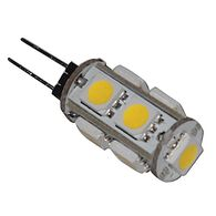 LED Replacement Bulb for JC10 or G-4 two-pin connections, 9 Diode