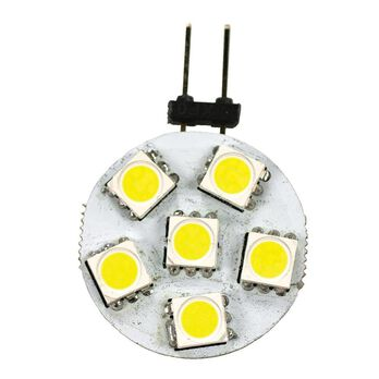 6 LED Replacement Bulbs, JC10 Disk, 2 Pack