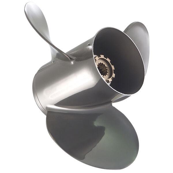 Quicksilver Silverado 3-Blade Modular Prop / Stainless, 13.75 dia x 21 pitch, RH