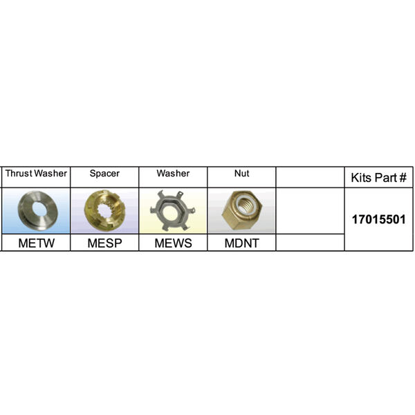 Solas 17015501 Propeller Kit for Mercury 90 HP Plus