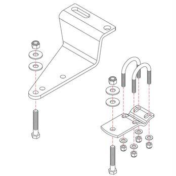 Roadmaster Reflex Steering Stabilizer Mounting Bracket, RBK8