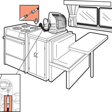 Big Buddy Heater 12' RV Hose Assembly