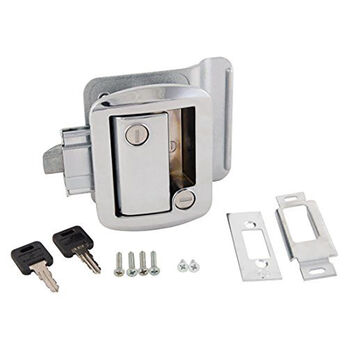 Replacement Door Lock for Travel Trailers, Chrome Plated