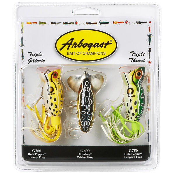 Arbogast Triple Threat Lure Kit 3-Pack