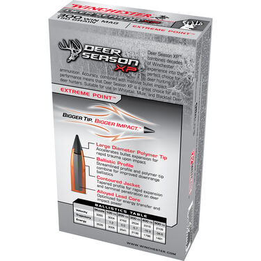 Winchester Deer Season XP Rifle Ammo, .300 Win Mag, 150-gr., Extreme Point