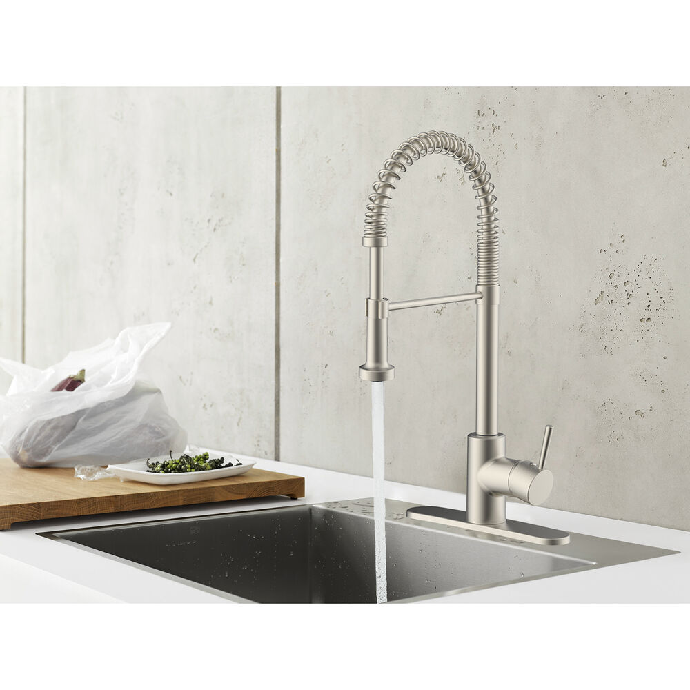 empire rv metal spring pull-down kitchen faucet with