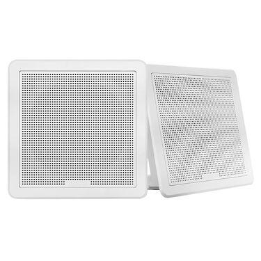 "FUSION FM-F77RB FM Series 7.7"" Flush Mount Square Marine Speakers"