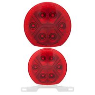 Round Waterproof LED Combination Tail Lights, Passenger Side