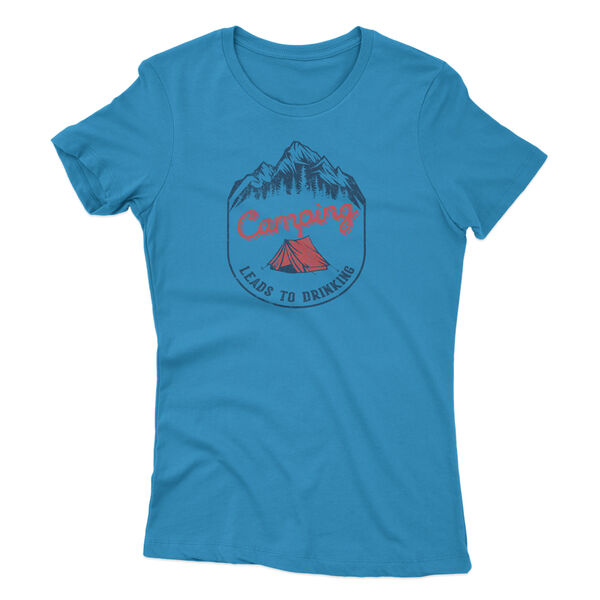 Points North Women's Camping Leads To Drinking Short-Sleeve Tee