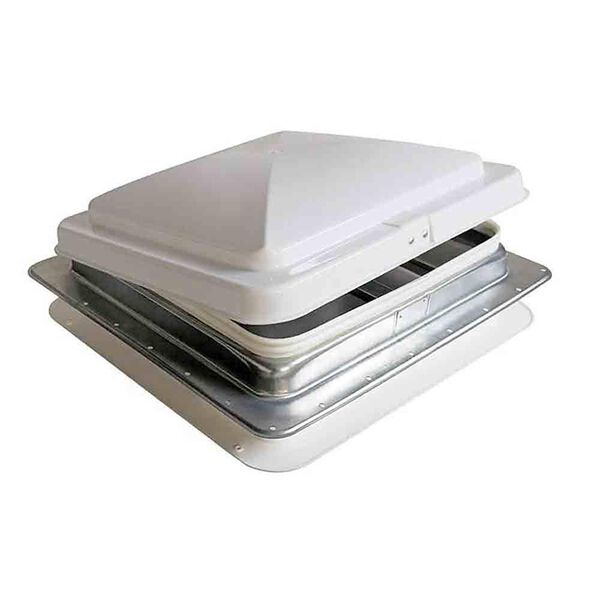 Heng's Replacement Roof Vent, White Lid w/Galvanized Base