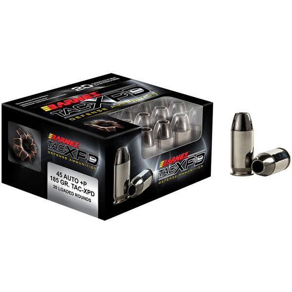 Barnes TAC-XPD Personal Defense Ammo, .45 ACP +P, 185-gr., TAC-XP