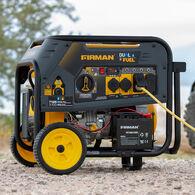 FIRMAN 7125/5700 Gas or LPG Watt 30A 120/240V Electric Start Hybrid Dual Fuel Portable Generator