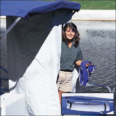 Shademate Portable Privacy Partition For Bimini/Hard Tops