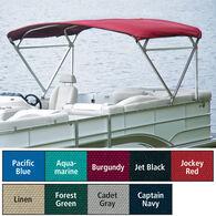 "Traditional Pontoon Bimini Top Sunbrella Acrylic, 1-1/4"" Free Standing, 90""-96""W"