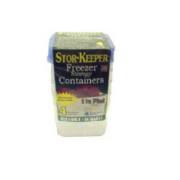 Stor-Keeper 1.5-Pint Freezer Storage Containers, 4-pack