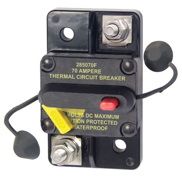 Blue Sea Systems 285 Series Circuit Breaker, Surface Mount, 70 Amp