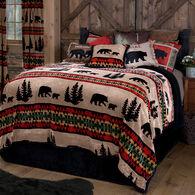 Bear Trails Black 2-piece Sherpa Twin Bedding Set