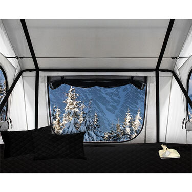 Nomadic 3 Arctic Extended Roof Top Tent, White and Dark Gray