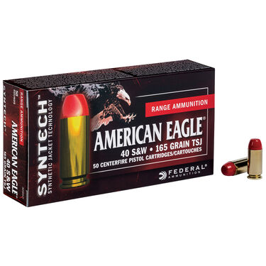 American Eagle Syntech Handgun Ammunition, .40 S&W, 180-gr., TSJ
