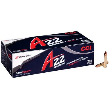 CCI A22 Magnum Rimfire Ammunition, .22 WMR, 35-gr., GamePoint
