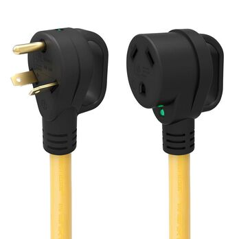 25' 30-Amp Extension Cord with Handle & Indicator Light