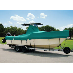 "Taylor Made Cover For Boats With Fixed T-Tops and Bow Rails, 18'4"" x 102"""