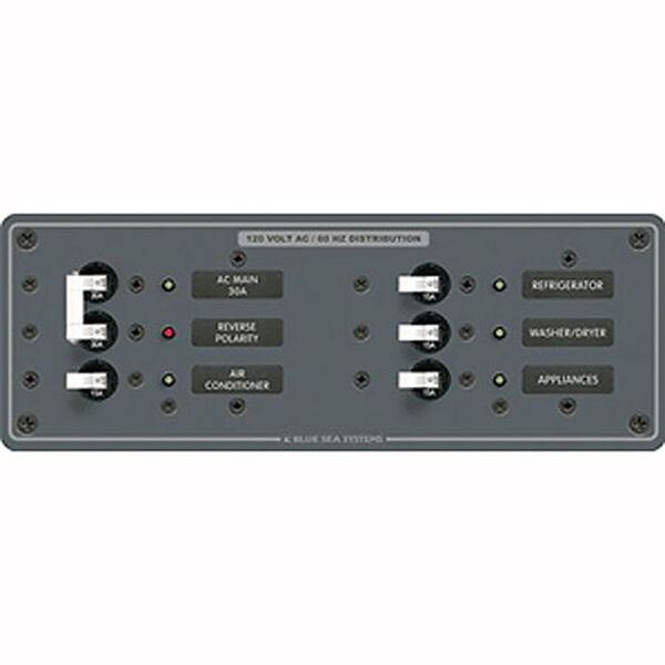 Blue Sea 120V AC Main + 4 Position Circuit Breaker Panel