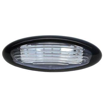 Combo White & Amber, Black LED Exterior Porch Light, Surface Mount