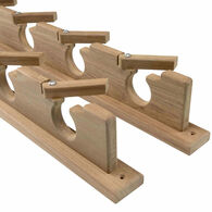 SeaForce Teak Lock-In 4 Rod Holder Storage Rack