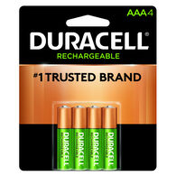 Duracell Rechargeable AAA NiMH Batteries, 4-Pack