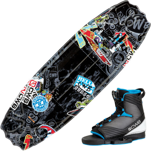 CWB Surge Park 125 Wakeboard With Optima Bindings