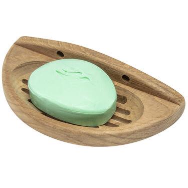 Whitecap Teak Teak Oval Soap Dish w/Slotted Base
