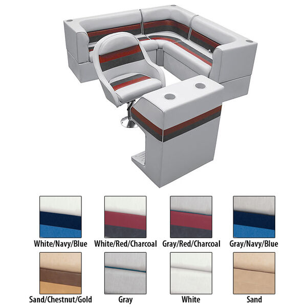 Deluxe Pontoon Furniture w/Classic Base - Rear Group Package C, Gray