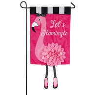 """Let's Flamingle"" Garden Flag"