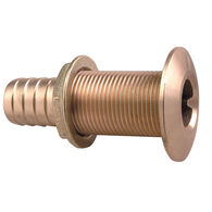 "Perko Thru-Hull Connections - Plain Bronze - 1-1/8"" x 1-3/4"""