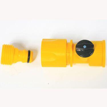 Quick Hose Connect, Plastic w/Shut-Off