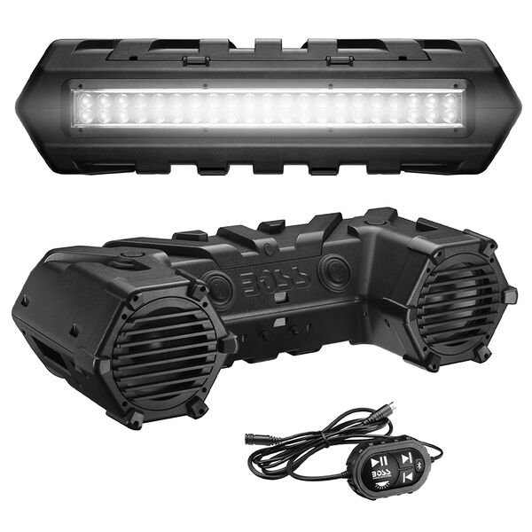 Boss Audio ATVB95LED Bluetooth Amplified All-Terrain Sound System with LED Light Bar