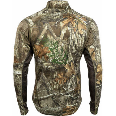 ScentLok Men's BaseSlayers AMP Heavyweight Quarter-Zip Top, Realtree Edge