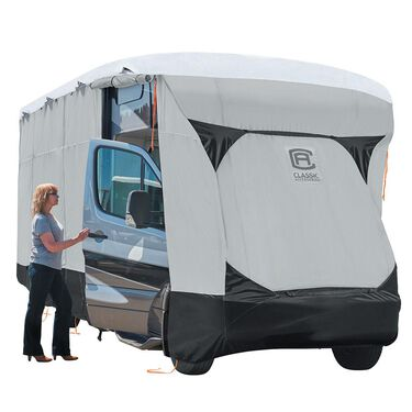 Classic Accessories SkyShield Deluxe Tyvek 5th Wheel Trailer Cover, 33'-37'