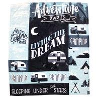 Adventure Awaits Velvet Throw Blanket