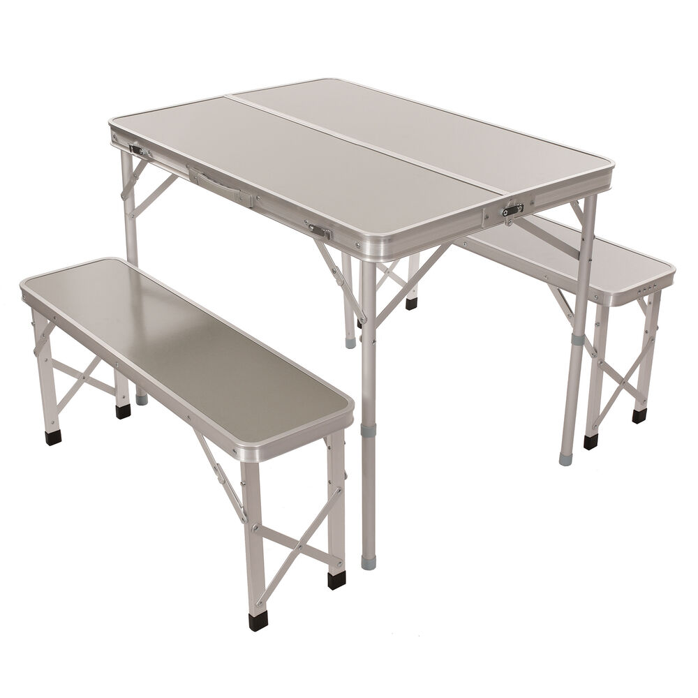 Portable Folding Picnic Table With Benches 3 Piece Set