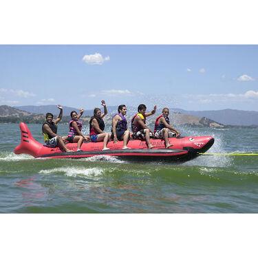 Island Hopper Red Shark Six-Person Banana Boat Towable