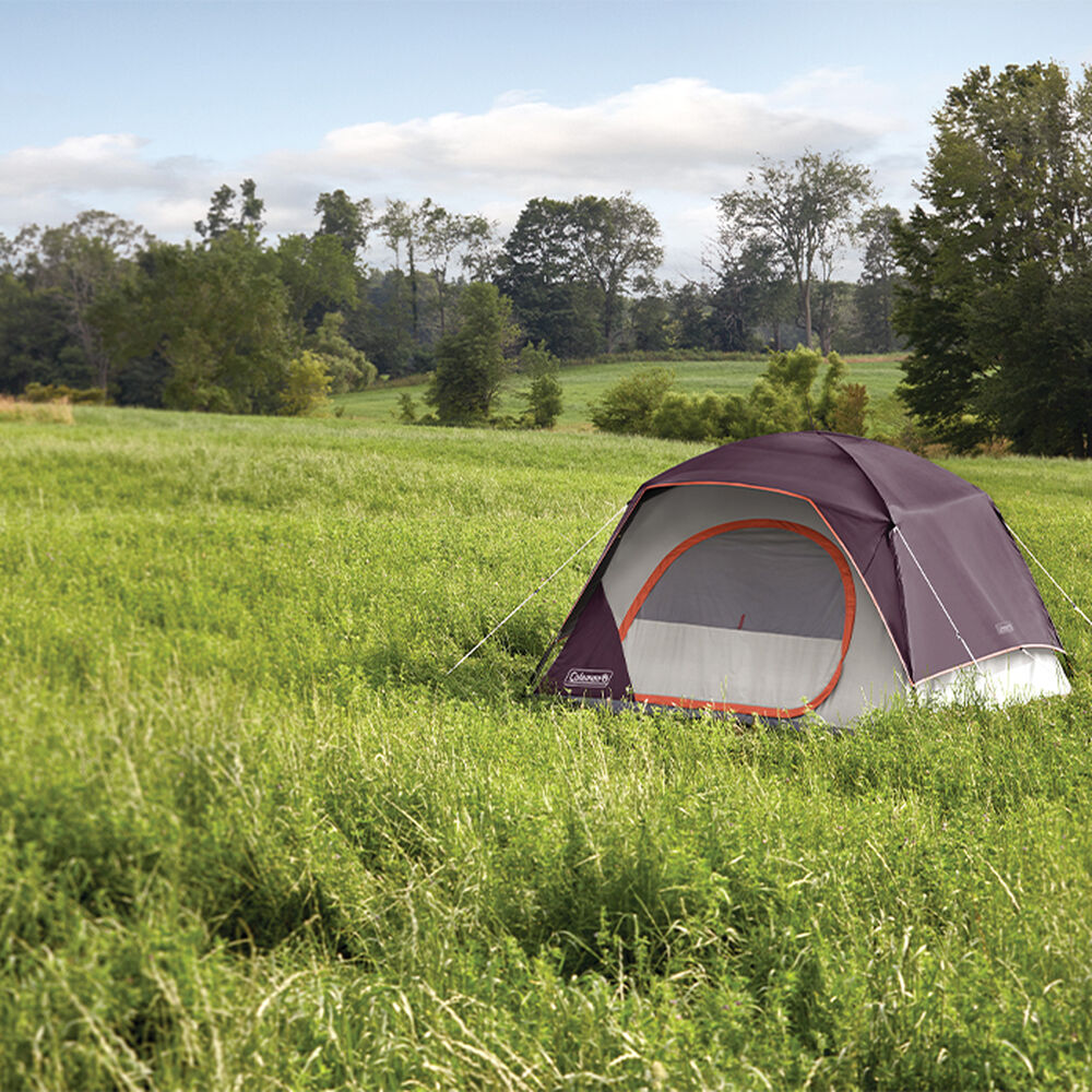 Coleman Skydome 4-Person Camping Tent, Blackberry ...